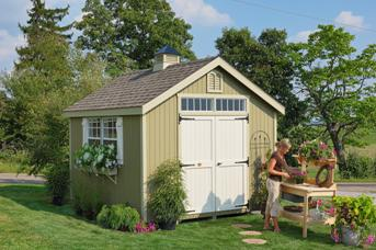 Colonial Williamsburg Garden Shed Kit by Little Cottage Co.